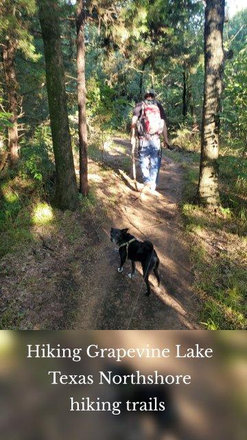 Hiking Grapevine Lake Texas Northshore hiking trails